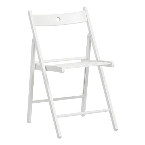 białe krzesło składane drewniane