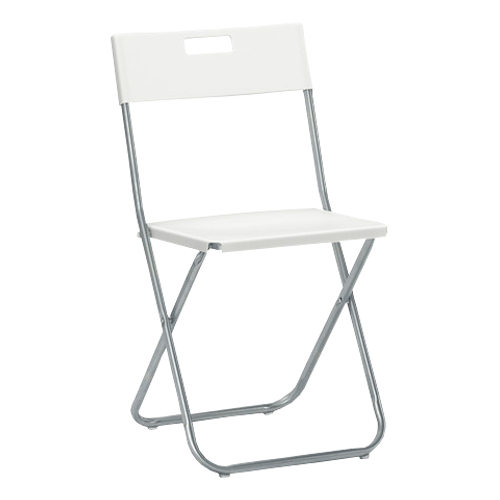 białe krzesło składane JF