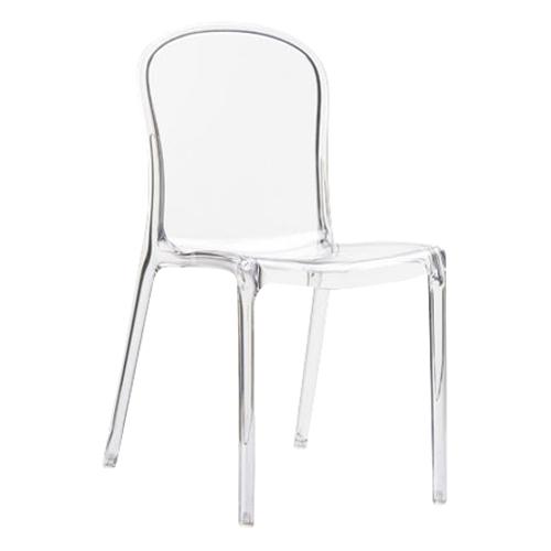 transparentne krzesło Vic